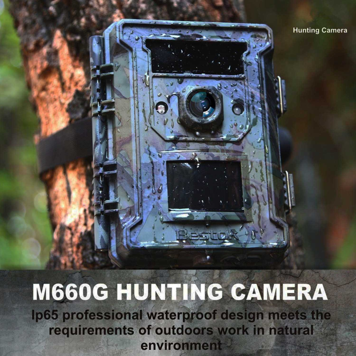 Bestok Trial Camera 12MP 120° HD Wildlife Hunting Cam with Infrared LEDs Night Vision 65 ft/20m 2.4'' LCD Waterproof IP65 Game Camera for Wildlife & Home Security by Bestok (Image #5)