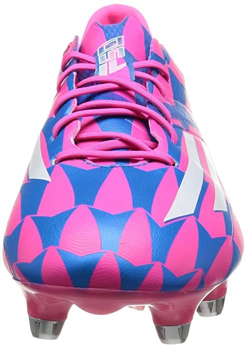 F50 Adizero XTRX SG - Chaussures de Foot Rose Neon/Blanc/Bleu Solaire, Rose, 40