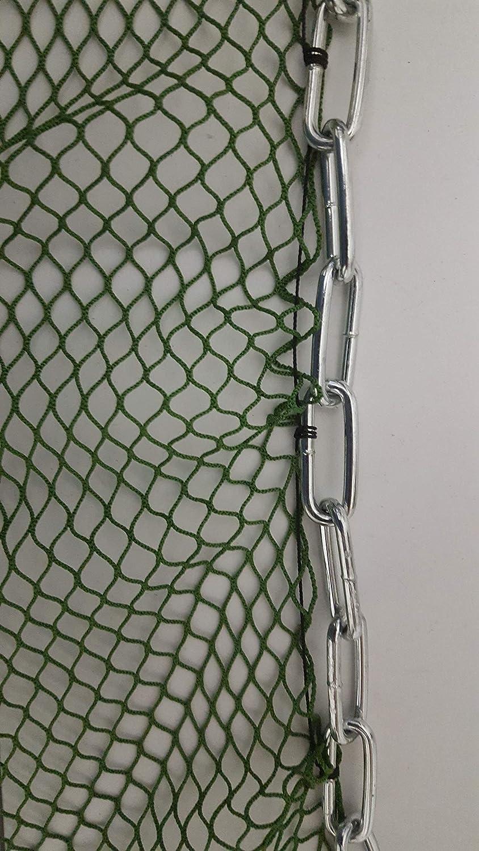 Koi Zugnetz Schleppnetz 12mX3,0X 5mm Kette ohne Fangsack Teich abfischen