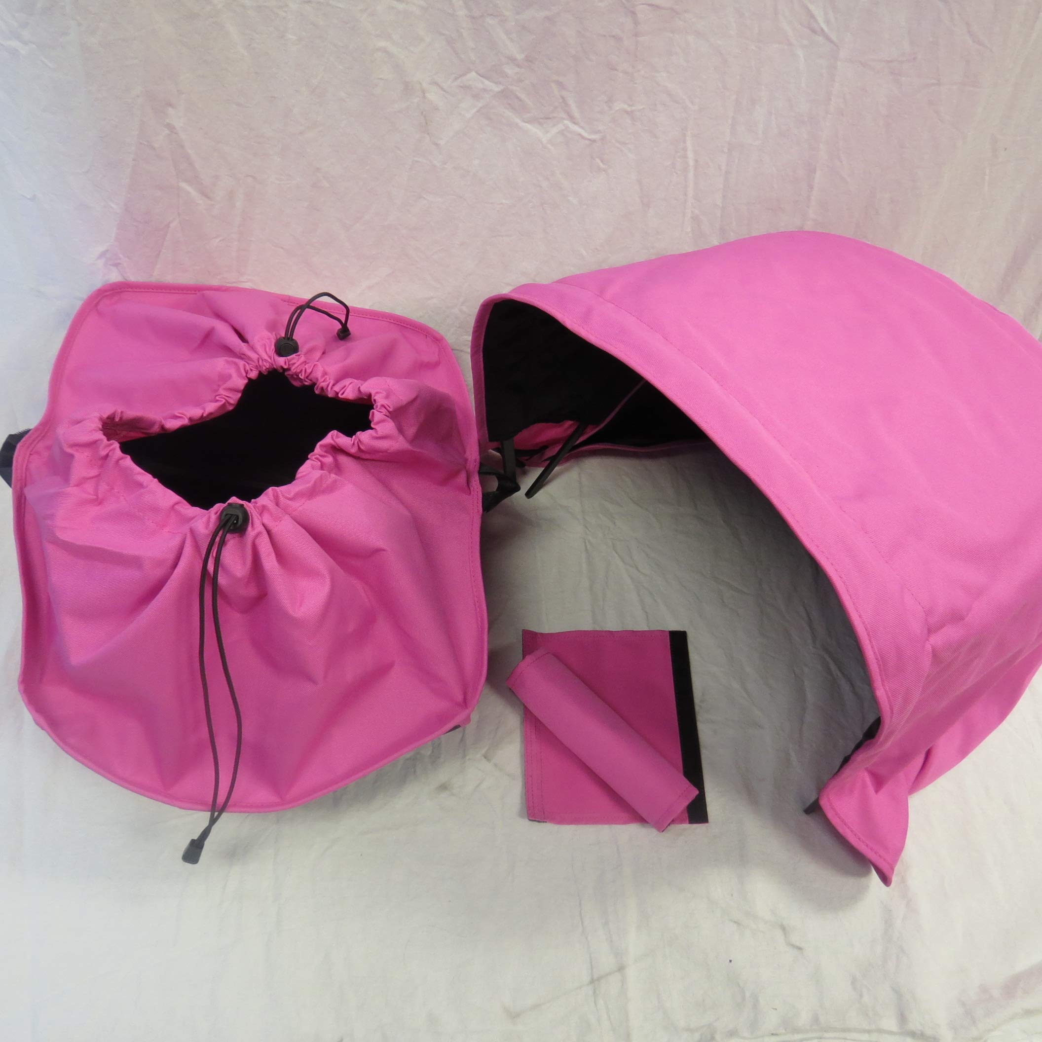 Pink Sun Shade Canopy and Large Under Seat Storage Basket Plus Free Handle Bar Covers for Bugaboo Cameleon 1, 2, 3, Frog Baby Strollers by Ponini (Image #2)