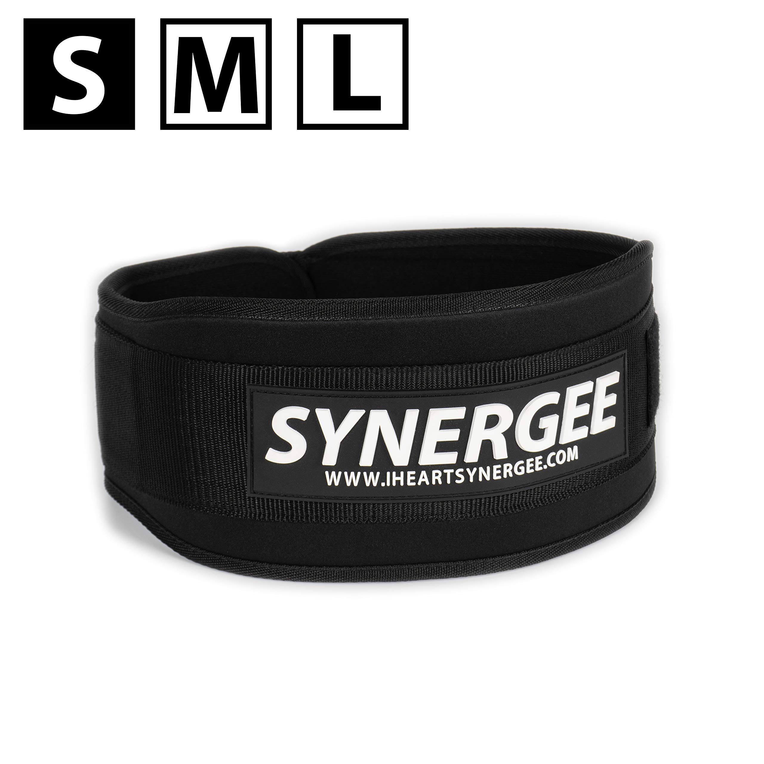 Synergee Weightlifting Belt, Olympic Lifting, Dynamic Workouts, Weight Belt for Men and Women, 5 inch, Back Support for Lifting - Small