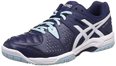 ASICS Men's Gel-Dedicate 4 Indigo Blue, White and Crystal Blue Tennis Shoes  -