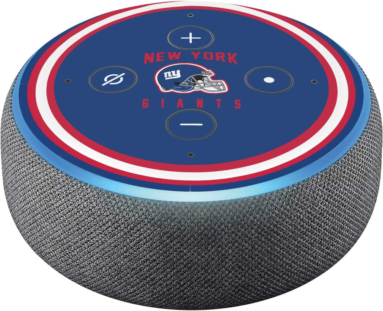 Head Case Designs Officially Licensed NFL Team Colour Helmet New York Giants Matte Vinyl Sticker Skin Decal Cover Compatible with Amazon Echo Dot (3rd Gen)