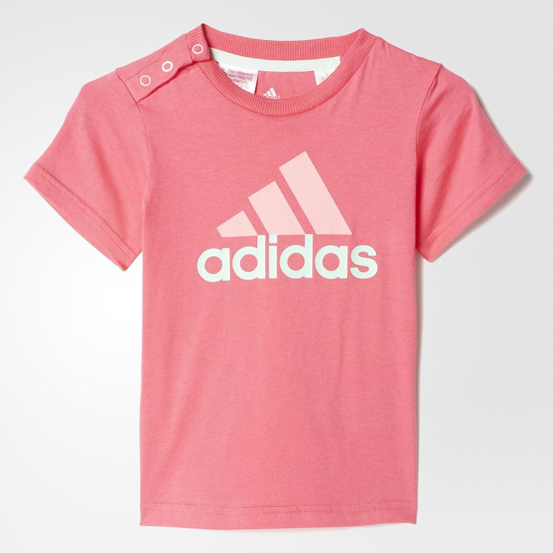 adidas I S Tee Unisex T-Shirt Pink/White
