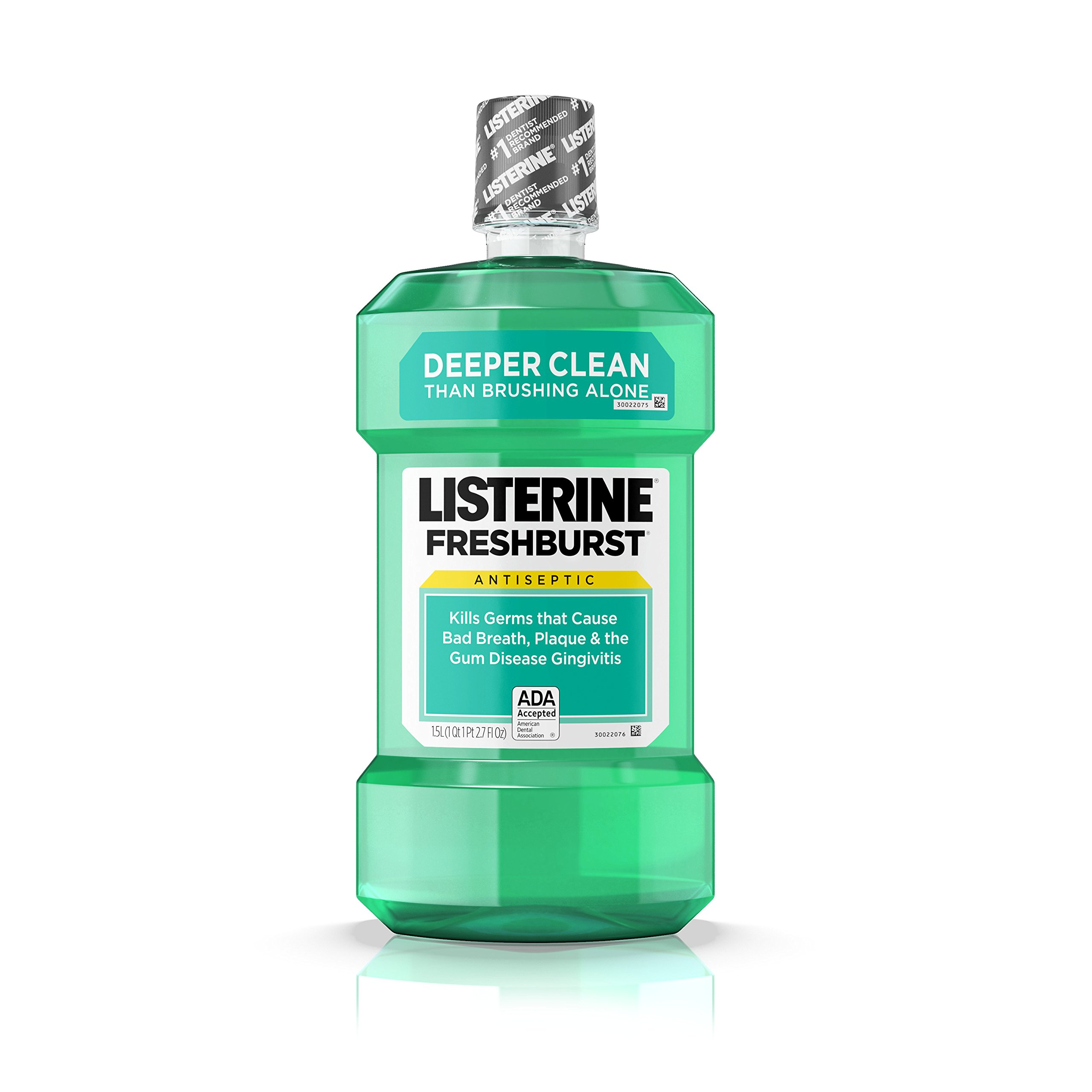 Listerine Freshburst Antiseptic Mouthwash For Bad Breath, 1.5 L, (Pack of 6)