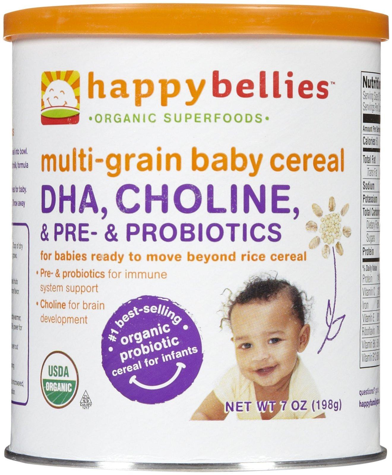 Happy Family happy bellies Baby Cereal - Multigrain - 7 oz