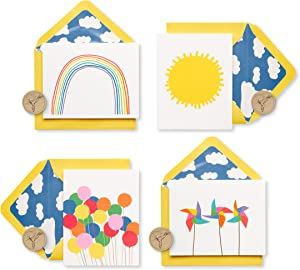 Papyrus Blank Cards with Envelopes, Little Box of Happy (20-Count)