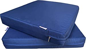 QQbed 2 Pack Outdoor Patio Deep Seat Memory Foam (Seat and Back) Cushion Set with Waterproof Internal Cover - Size 20