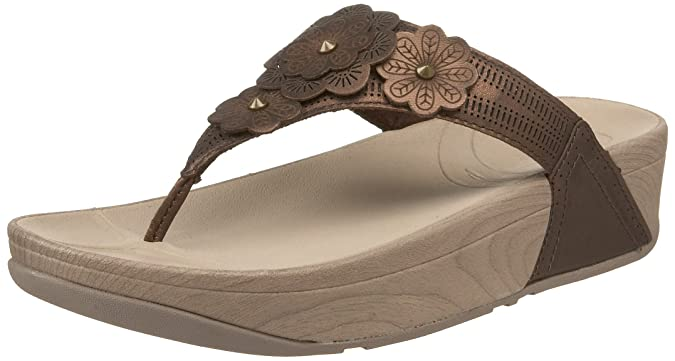 Fitflop Fiorella Womens, Bronze Leather, 38 EUR, B: Amazon