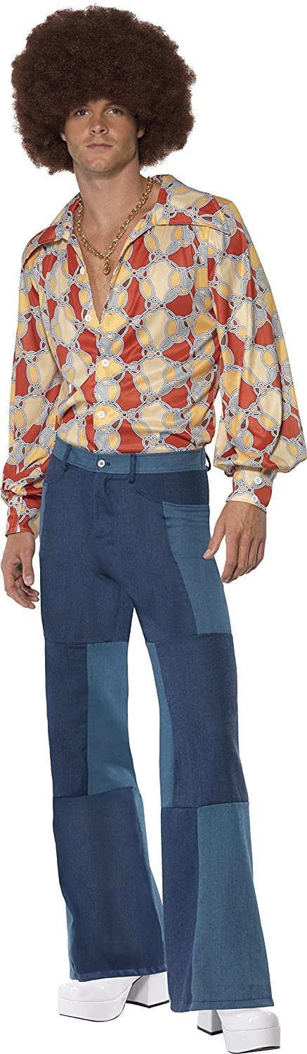60s , 70s Hippie Clothes for Men Smiffys 1970s Retro Costume £29.97 AT vintagedancer.com