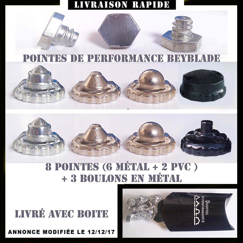 6 métal 3 boulons métal 8 pointes de performance pour toupie beyblade 2 PVC