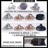 "8 pointes de performance + 3 boulons metal pour toupie beyblade et "" beyblade metal fury """