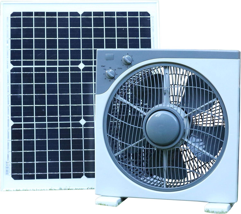 PK Green Ventilador Solar 12V con Panel Solar 30W para Coche ...
