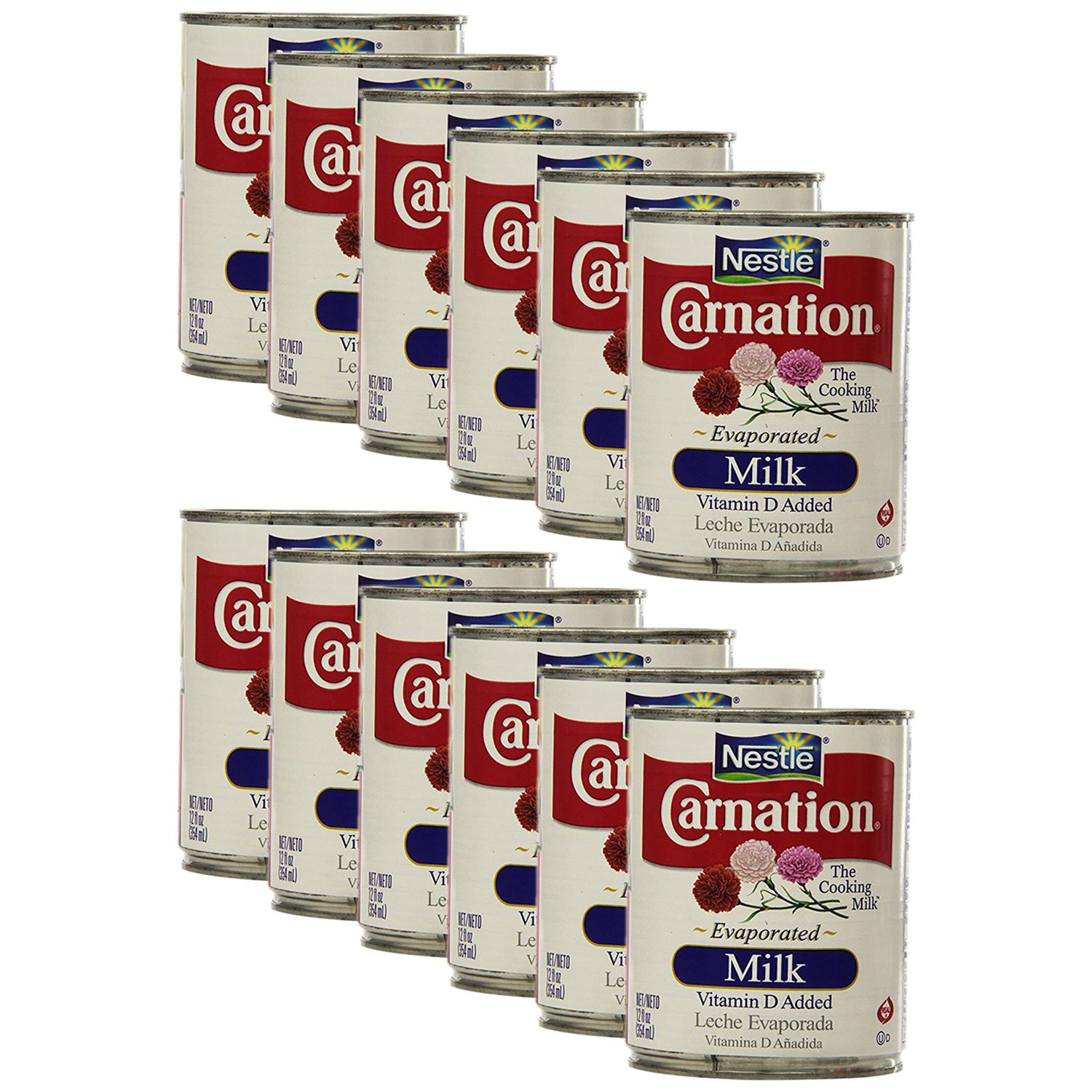 Nestle Carnation Evaporated Milk 12oz (Pack of 12) by Carnation