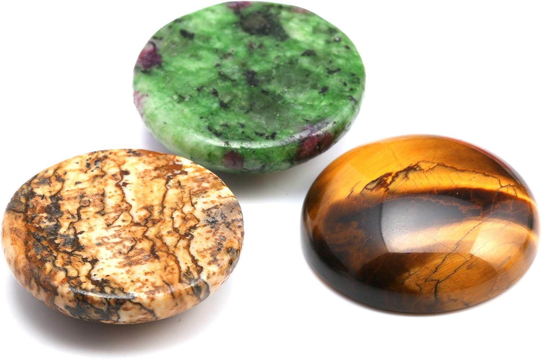 Cabochon Gem Stone Black Stone 10mm x 12 mm Oval Pkg 20