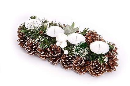 Centrotavola Natalizi Vendita Online.Goldenhome Centro Tavola Natale Noel Idea Regalo Natale Porta Candele Decorazione Natalizia Addobbo Natalizio