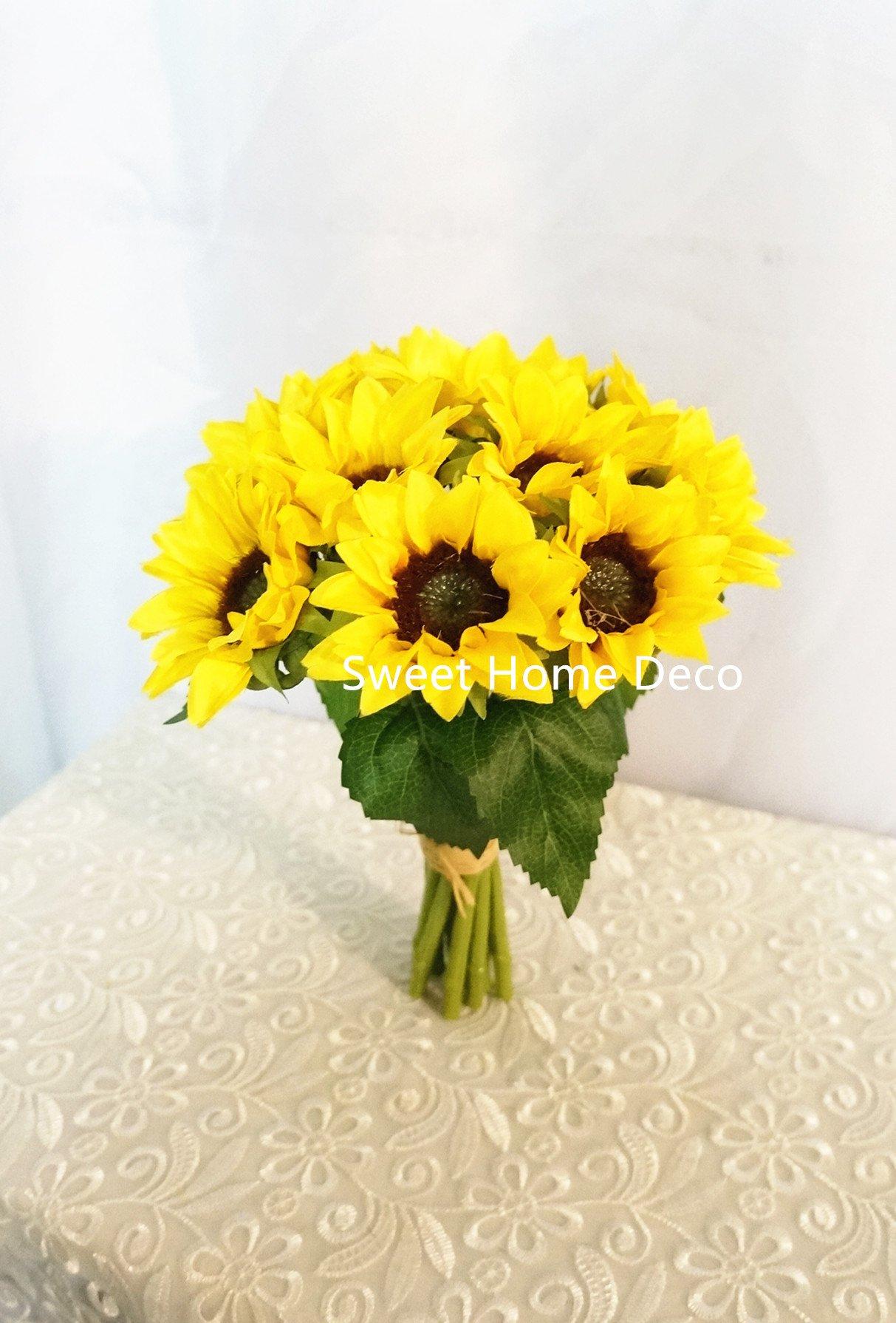 Sweet-Home-Deco-Silk-Sunflower-Artificial-Flower-BouquetFlower-Boutonniere-Wedding-Flowers