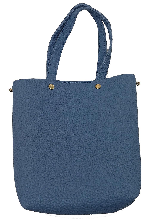 SUKRAGRAHA bluee Mini Faux Leather Causal Handbag Satchel