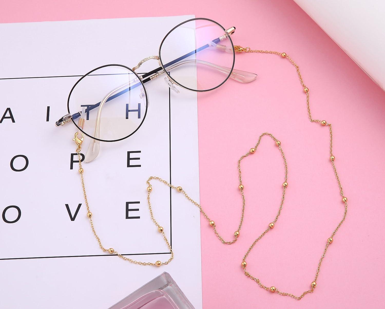Likgreat Catena per occhiali da vista da donna con perline per occhiali da lettura