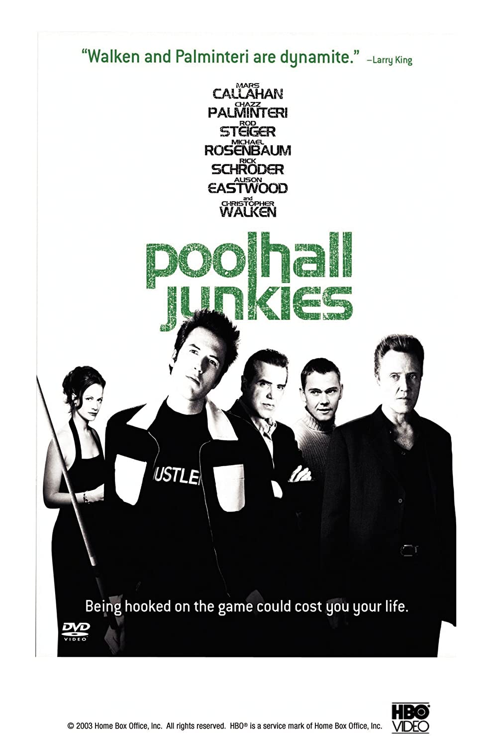 Amazon.com: Poolhall Junkies: Chazz Palminteri, Ricky Schroder, Rod  Steiger, Michael Rosenbaum, Mars Callahan, Alison Eastwood, Christopher  Walken, ...