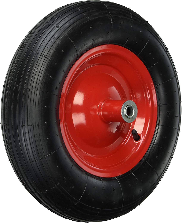 Lasher Concrete Heavy Duty 4 Ply Wheelbarrow w// Black Frame /& Pneumatic Wheel
