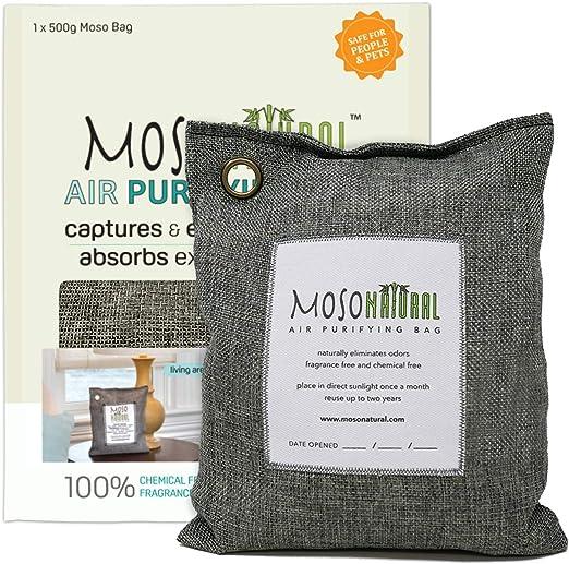 MOSO - Bolsa purificadora de aire natural 500 g, elimina olores ...
