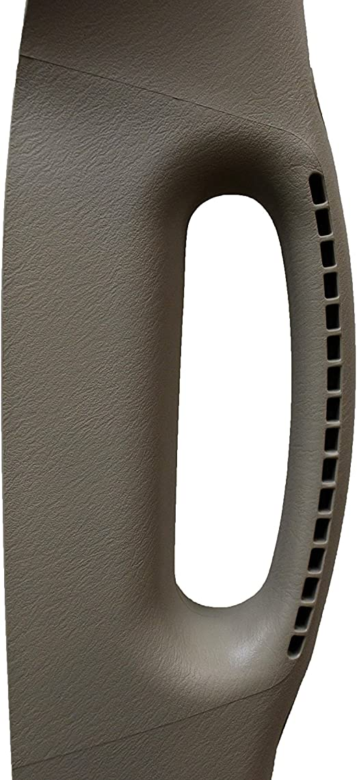 PT Auto Warehouse CH-2504E-FR2 Inside Pillar Trim Grab Handle Khaki Beige Taupe Passenger Side Front