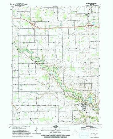 Memphis Michigan Map.Amazon Com Yellowmaps Memphis Mi Topo Map 1 24000 Scale 7 5 X