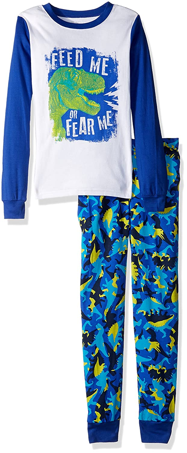 The Children's Place Big Boys' Top and Pants Pajama Set 2, White 85053, 7 hot sale