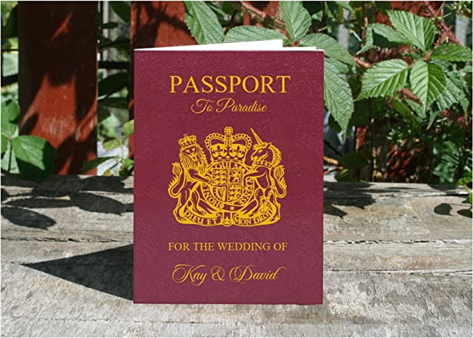 Personalised 8 Page Passport Style Wedding Invitations Getting
