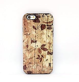 Fiori Legno cover case custodia per iPhone 5, 5s, SE, 6, 6s, 7, 7 plus, 8, 8 plus, X, XS, per Galaxy S6, S7, S8