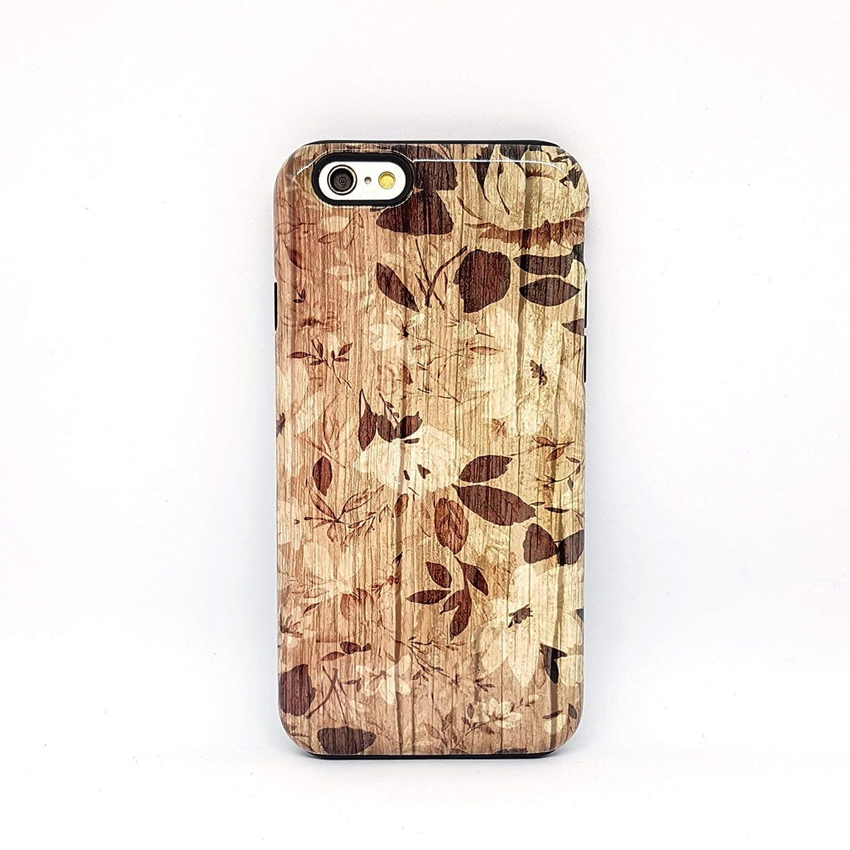 Fiori Legno cover case custodia per iPhone 5, 5s, 6, 6s, 7, 7 plus, 8, 8 plus, X, XS, per Galaxy S6, S7, S8
