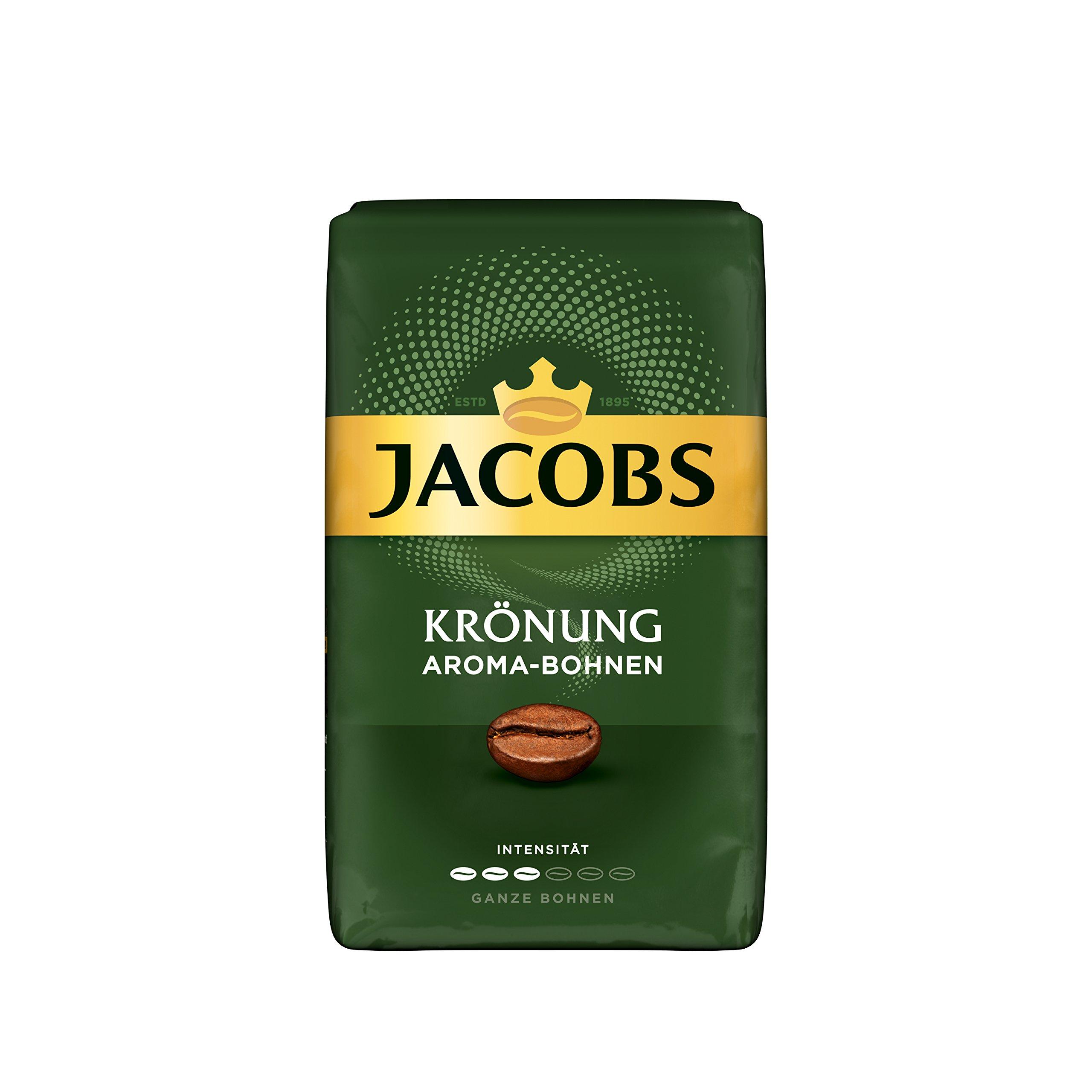 JACOBS KRONUNG WHOLE BEAN AROMA BOHNEN COFFEE CASE 12 x 500g by JACOBS WHOLE BEAN COFFEE (Image #1)
