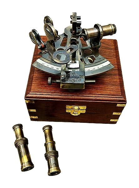 Amazon Com A S Handicrafts Vintage Kelvin Hughes Brass Sextant