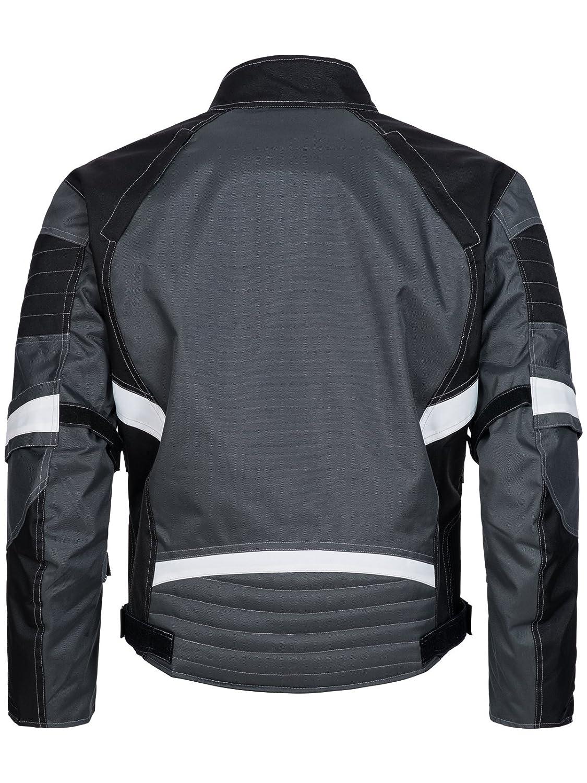 Textil Motorrad Jacke aus Cordura wasserdicht Winddicht Schwarz Orange 784 Gr M Limitless Herren Motorradjacke mit Protektoren und Reflektoren