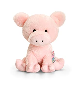 d0213a88a0c95 Keel Toys 14 cm Pippins Pig  Amazon.co.uk  Toys   Games