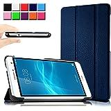 Huawei MediaPad T2 7.0 Pro ケース Infiland Huawei T2 7.0 Pro ケース 薄型 超軽量 三つ折りスタンドカバー 傷つけ防止 合成皮革カバー