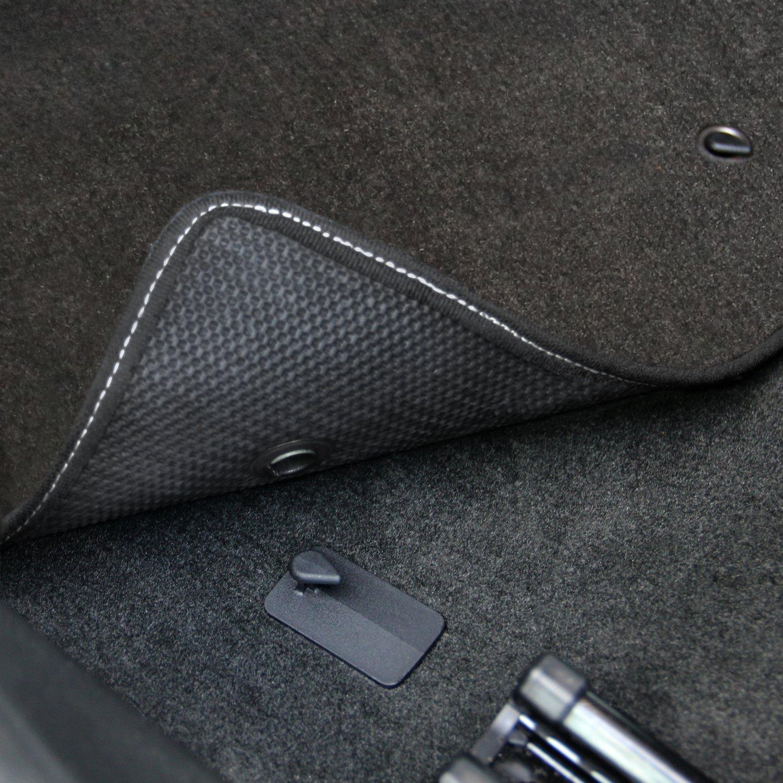 2011-2014 Challenger 4pc Ebony Black Front /& Rear Floor Mats with SRT-8 Logo in Red /& Silver Lloyd Mats