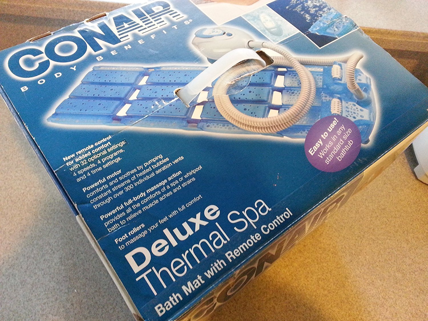 Amazon.com: New Conair Deluxe Thermal Spa/ Model MBTS6NW/ Blue Mat ...