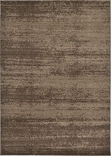Unique Loom Del Mar Collection Contemporary Transitional Brown Area Rug 9 0 x 12 0