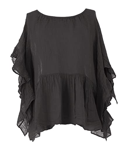 TEXTUREONLINE – Camisas – Básico – para mujer gris gris oscuro Talla única