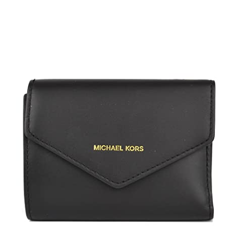 4f9a94b08db5 MICHAEL Michael Kors Women s Blakely Small Leather Envelope Wallet Black  One Size  Amazon.ca  Luggage   Bags