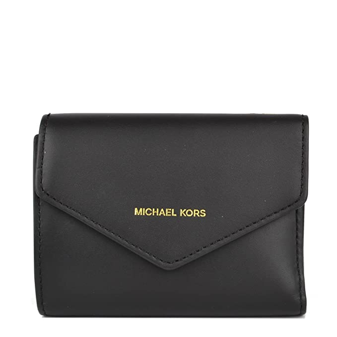 MICHAEL by Michael Kors Blakely Portafoglio di Carta Nero Small Donna Black  one size  Amazon.it  Abbigliamento 6d40910ee2d