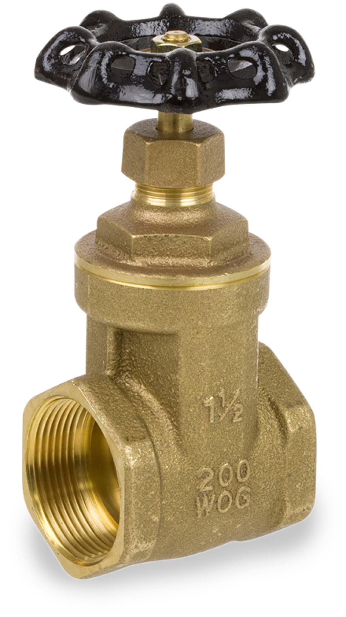 Smith-Cooper International 8501L Series Brass Gate Valve, Potable Water Service, Non-Rising Stem, Inline, 1-1/4'' NPT Female