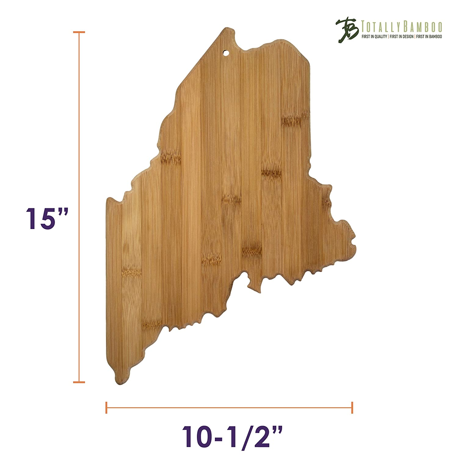 Amazon.com: Totally Bamboo State Cutting & Serving Board, Maine, 100 ...