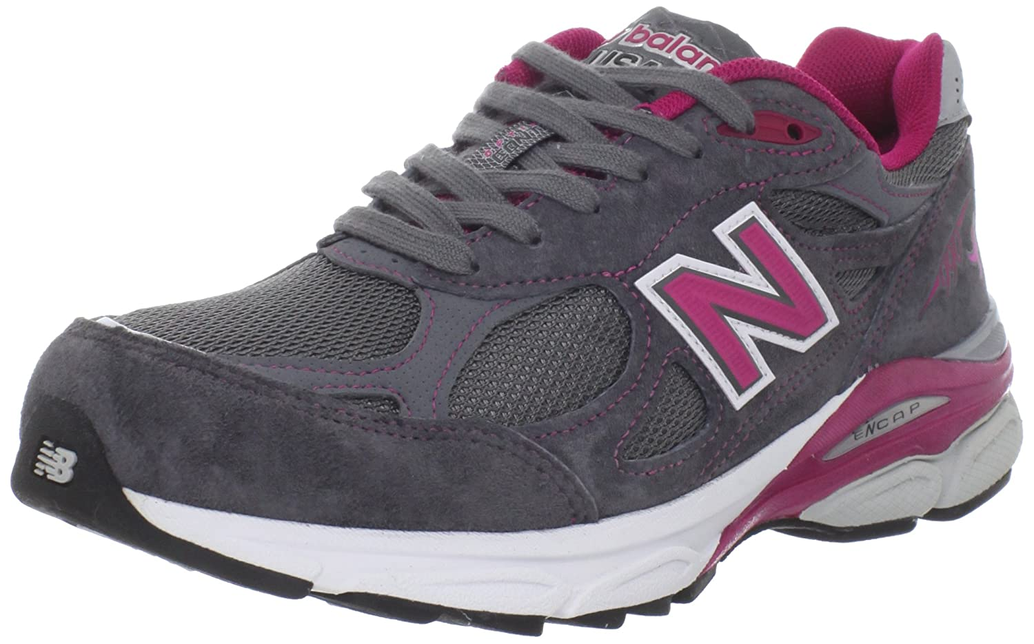 New Balance Women's 990V3 Running Shoe B005P21VE2 6.5 B(M) US|Grey/Pink