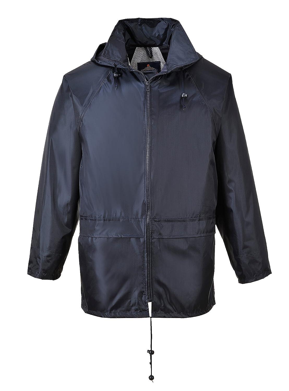 Portwest US440NARS Regular Fit Classic Rain Jacket, Small, Navy