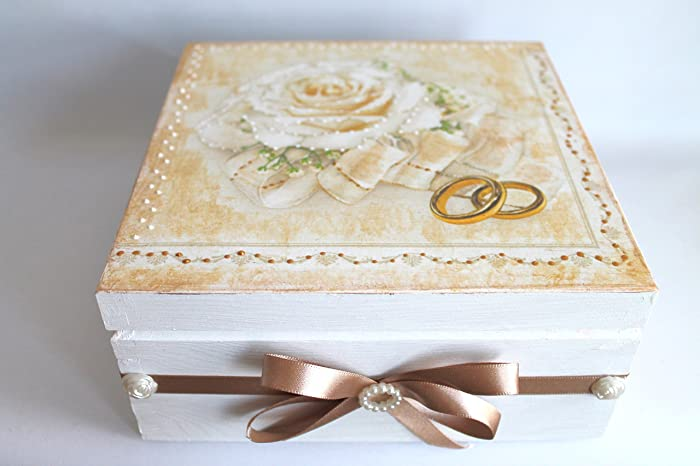 Amazon.com: Wedding gifts, wedding money box, keepsake box, memories ...