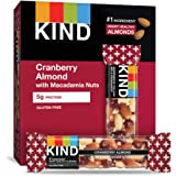 KIND Bars, Cranberry Almond + Antioxidants with Macadamia Nuts, Gluten Free, Low Sugar, 1.4oz, 12 Count