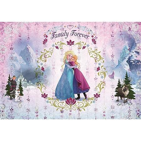Komar Disney Frozen Family Forever Wallpaper Mural Vinyl Multi Colour 368 X